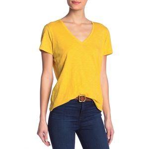 Madewell V-Neck Short Sleeve T-Shirt Nectar Gold